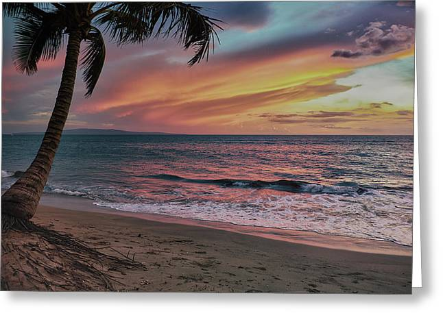 Kihei Sunset Greeting Card