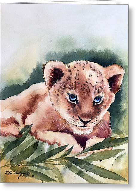 Kijani The Lion Cub Greeting Card