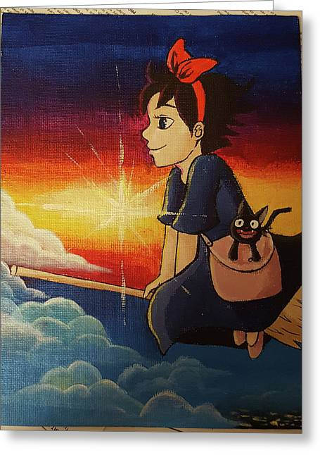 Kiki greeting cards page 5 of 5 fine art america kiki delivery service greeting card m4hsunfo Gallery
