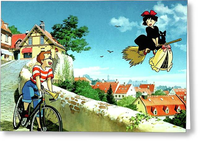 Studio ghibli greeting cards fine art america kikis delivery service greeting card m4hsunfo Gallery