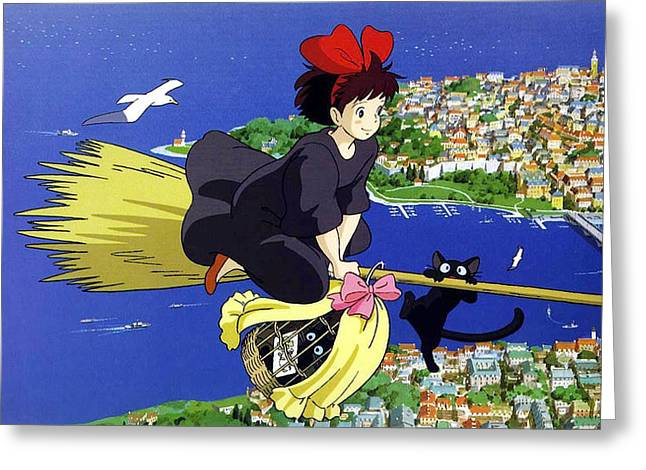Kiki greeting cards page 5 of 5 fine art america kikis delivery service greeting card m4hsunfo Gallery