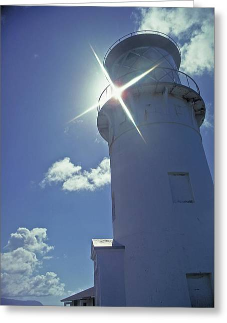 Greeting Card featuring the photograph Kilauea Lighthouse by Marie Hicks