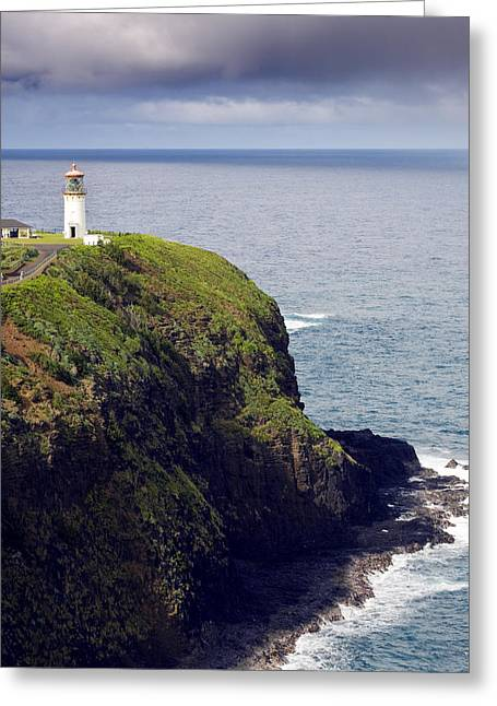Kilauea Lighthouse On Kauai Hawaii Greeting Card