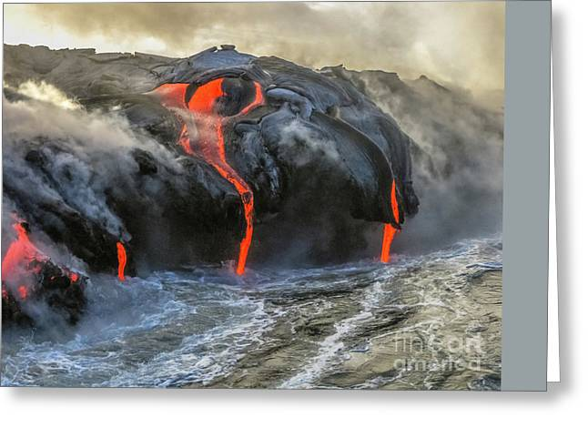Kilauea Volcano Hawaii Greeting Card