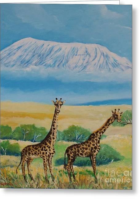 Kilimandjaro Greeting Card