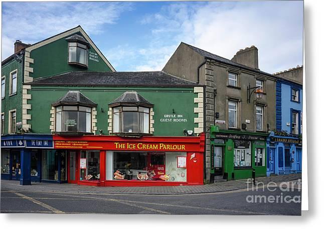 Kilkenny Ice Cream Parlour Greeting Card by Les Palenik