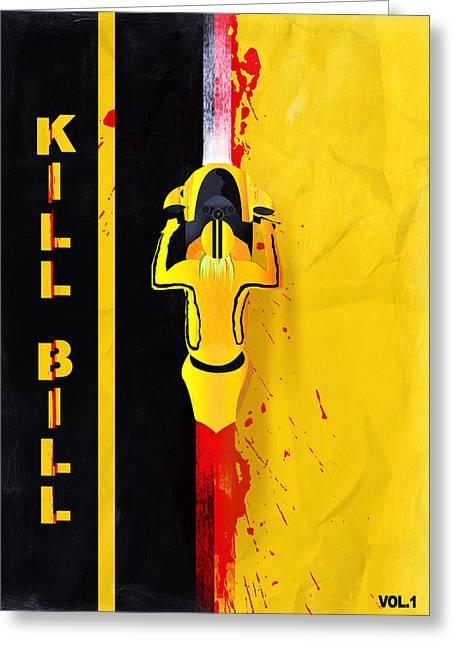 Kill Bill Minimalistic Alternative Movie Poster Greeting Card