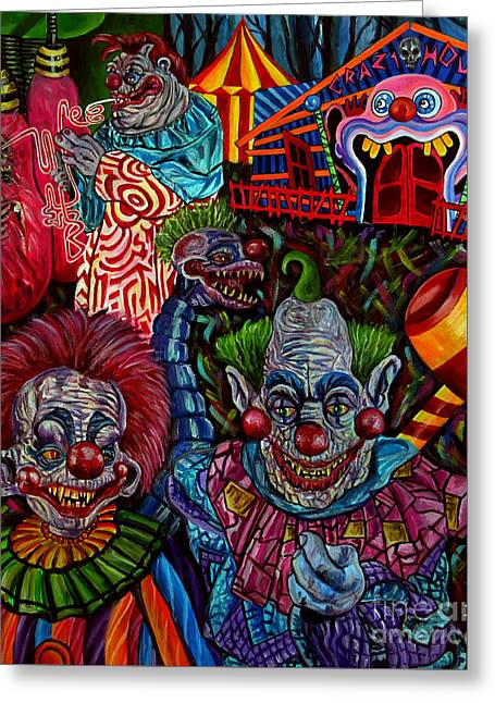 killer Klowns Greeting Card by Jose Mendez