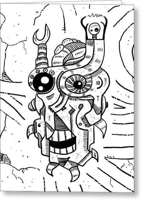 Killer Robot Greeting Card