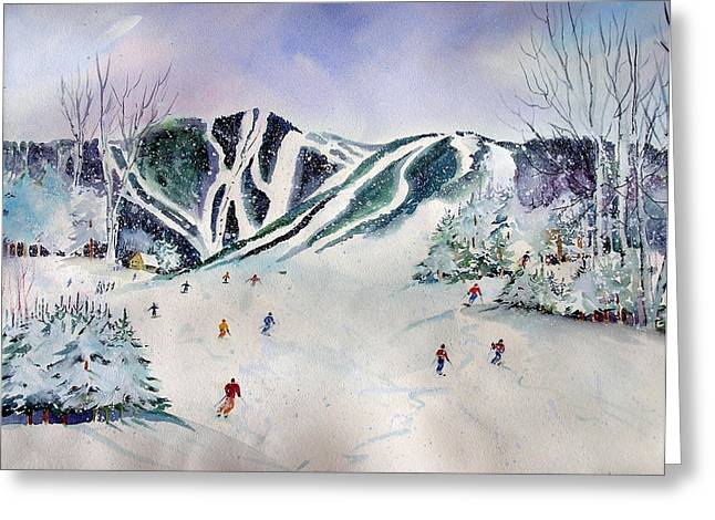Killington  Mts.                    Greeting Card by Maurie Harrington