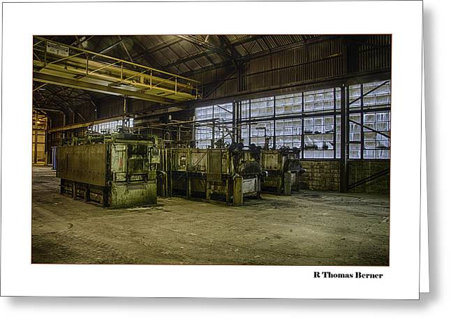 Greeting Card featuring the photograph Kilns by R Thomas Berner