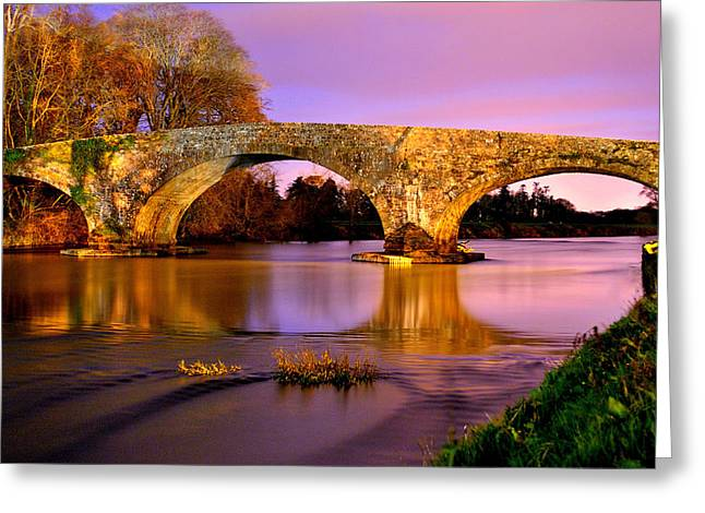 Kilsheelan Bridge At Night Greeting Card