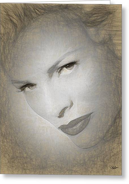 Kim Basinger Drawing Greeting Card