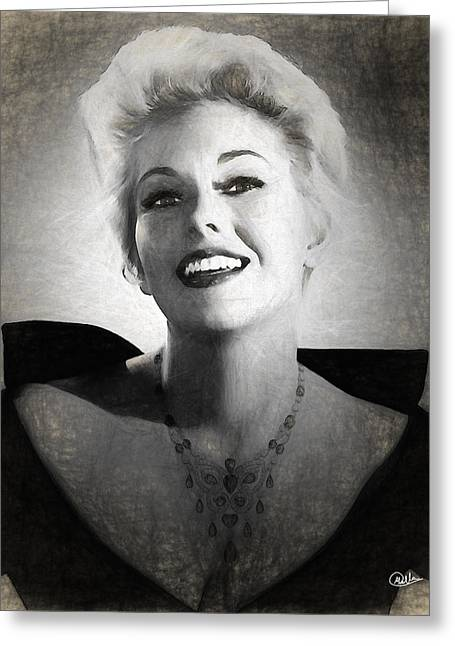 Kim Novak Actress Greeting Card by Quim Abella