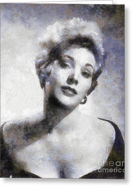 Kim Novak By Sarah Kirk Greeting Card