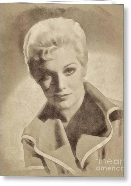 Kim Novak, Vintage Actress By John Springfield Greeting Card by John Springfield
