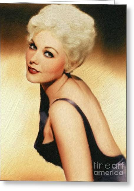 Kim Novak, Vintage Actress Greeting Card