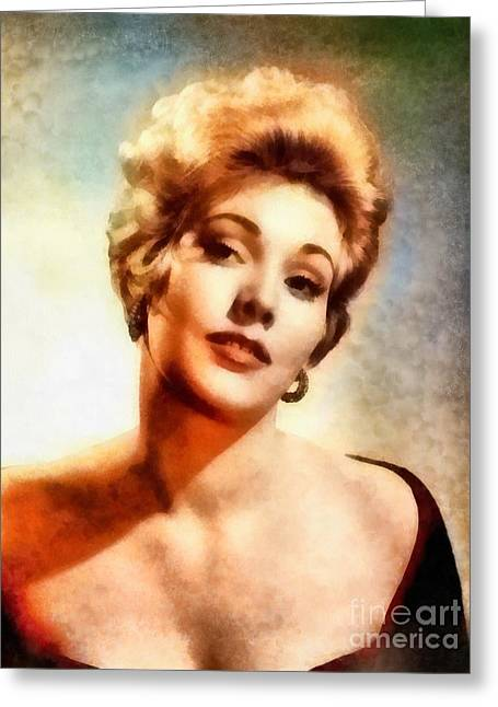 Kim Novak, Vintage Hollywood Actress Greeting Card by Frank Falcon