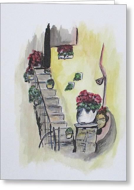 Kimberly's Castellabate Flowers Greeting Card
