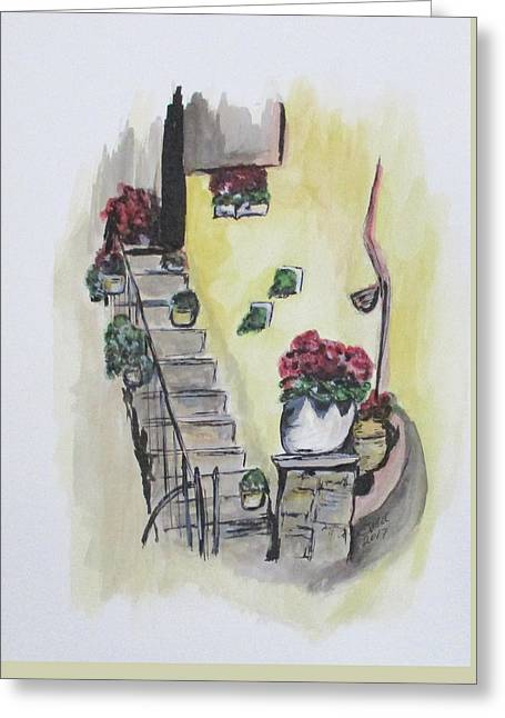 Kimberly's Castellabate Flowers Greeting Card