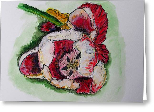 Greeting Card featuring the painting Kimberly's Flowers by Clyde J Kell