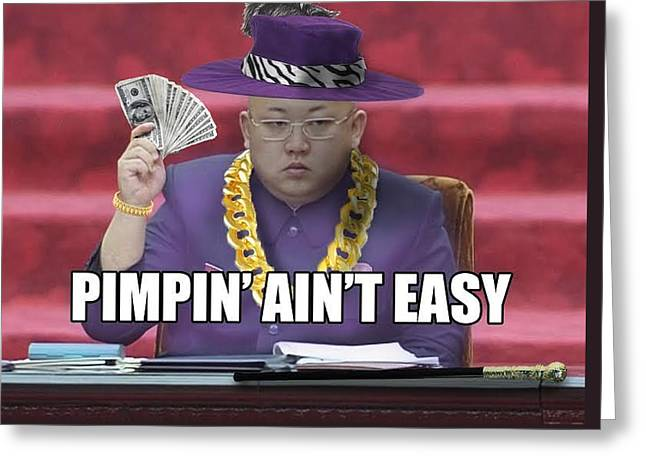 Kimmy Be Pimpin' Greeting Card