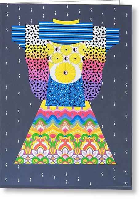 Kimono Greeting Card by Thomas Gronowski