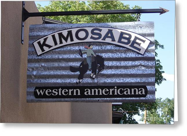 Kimosabe Greeting Card by Mary Rogers