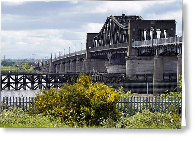 Greeting Card featuring the photograph Kincardine Bridge by Jeremy Lavender Photography