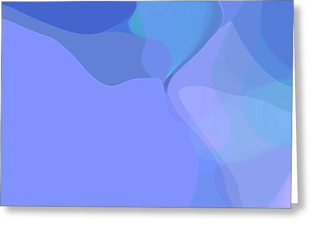 Greeting Card featuring the digital art Kind Of Blue by Gina Harrison