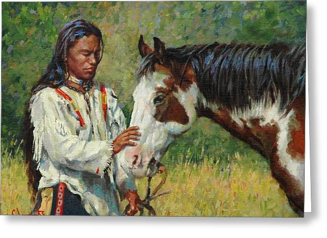 Kindred Spirits Greeting Card by Jim Clements