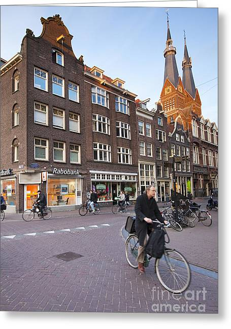 king a Walk in the Streets of Amsterdam Greeting Card by Andre Goncalves