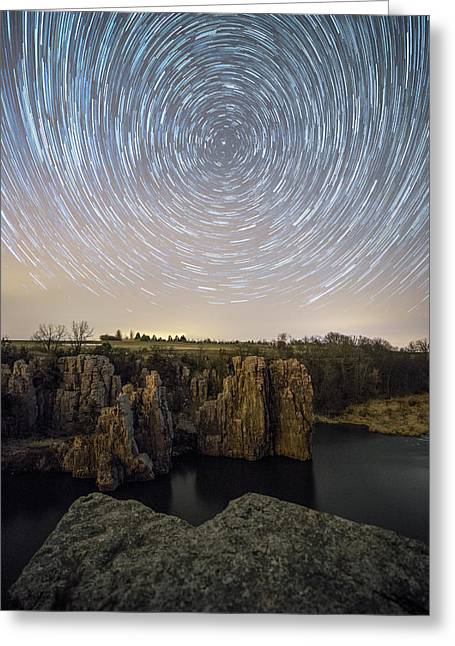 King And Queen Star Trails Greeting Card