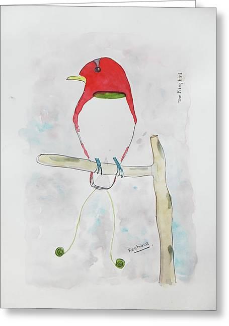 King Bird Of Paradise Greeting Card