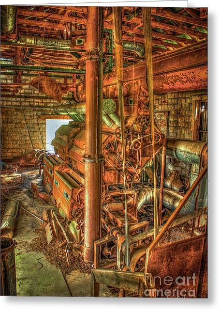 King Cotton Gin Cotton Gin Art Greeting Card by Reid Callaway