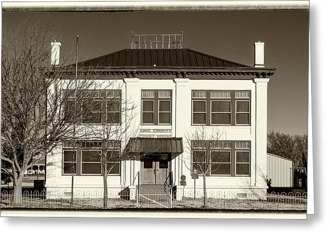King County Tx Courthouse Greeting Card by Stephen Stookey
