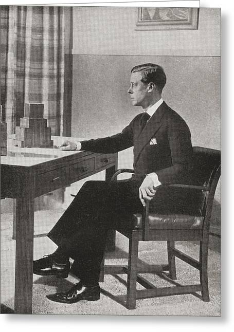 King Edward Viii, Preparing To Greeting Card by Vintage Design Pics