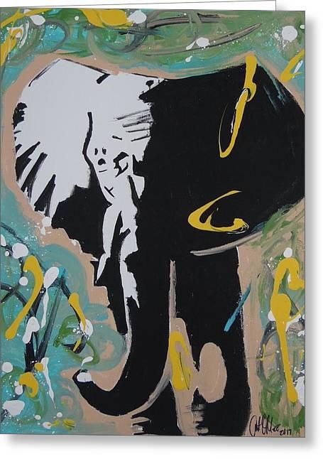 King Elephant Greeting Card