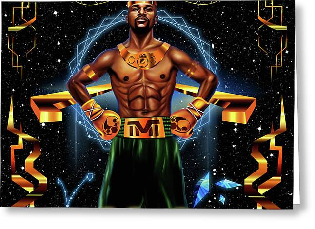 King Floyd Mayweather Greeting Card by Kenal Louis