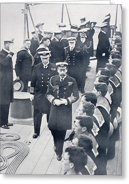 King George V Of England Reviewing The Greeting Card