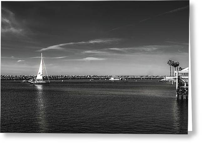King Harbor By Mike-hope Greeting Card