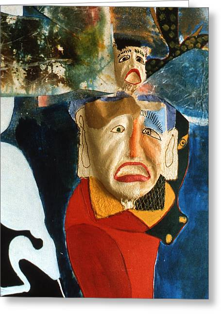 Greeting Card featuring the painting King In Peace by Sima Amid Wewetzer
