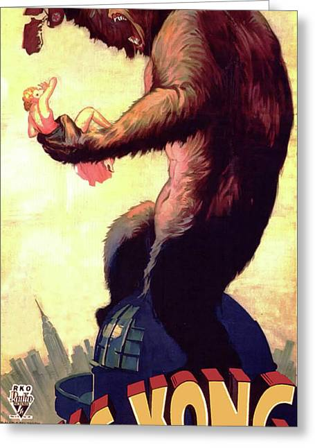 King Kong 1933 Greeting Card