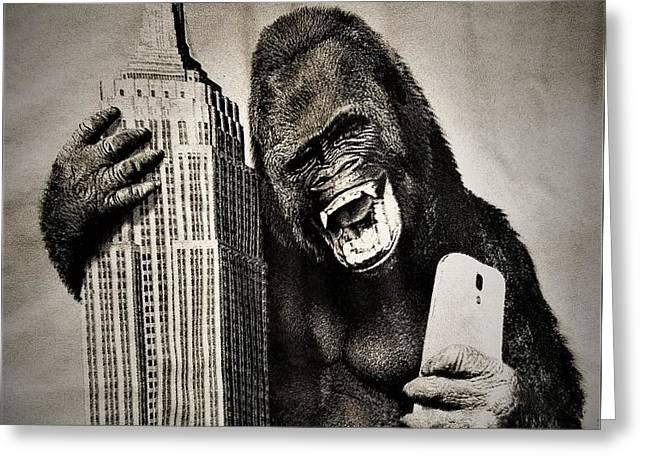 King Kong Selfie Greeting Card