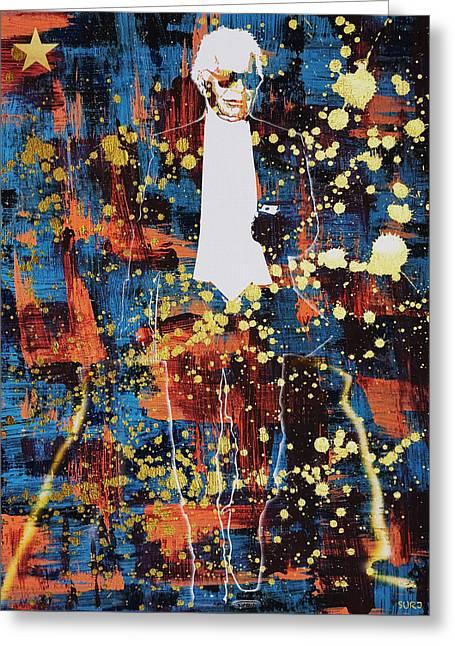 King Lagerfeld Greeting Card by Surj LA