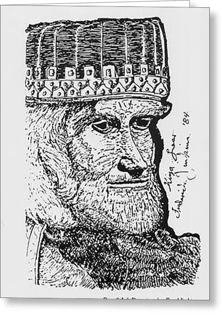 King Lear 1984 Greeting Card by Fred Jinkins