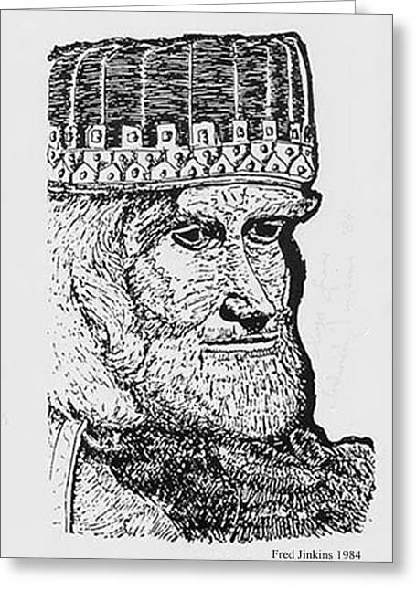 King Lear Greeting Card by Fred Jinkins