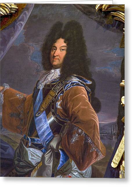 King Louis 14 Portrait Greeting Card