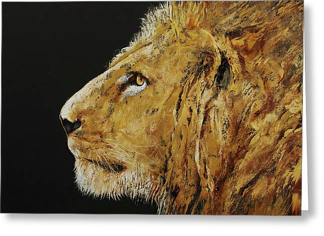 King Greeting Card by Michael Creese