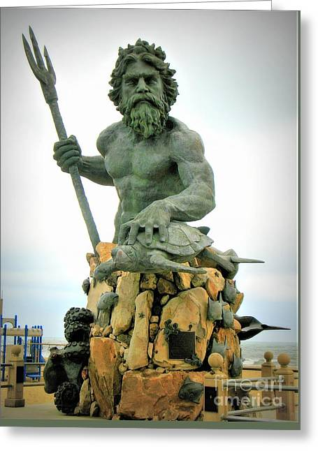 King Neptune Statue Greeting Card